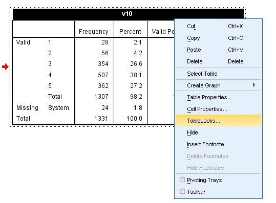 TableLooks Screen 1