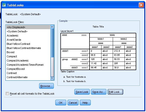 TableLooks Screen 2